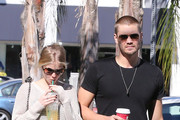 'The Haunting In Georgia' actor Chad Michael Murray grabs a coffee at Starbucks with his fiance Kenzie Dalton in Studio City, California on November 6th, 2012.