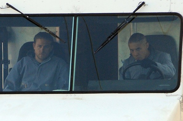 Charlie Hunnam - 'Sons Of Anarchy' Films in LA — Part 2