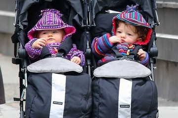 Charlie Moyer Anna Paquin Takes Her Twins for a Stroll