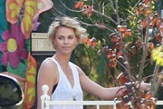 Charlize Theron Picks Up Jackson from School
