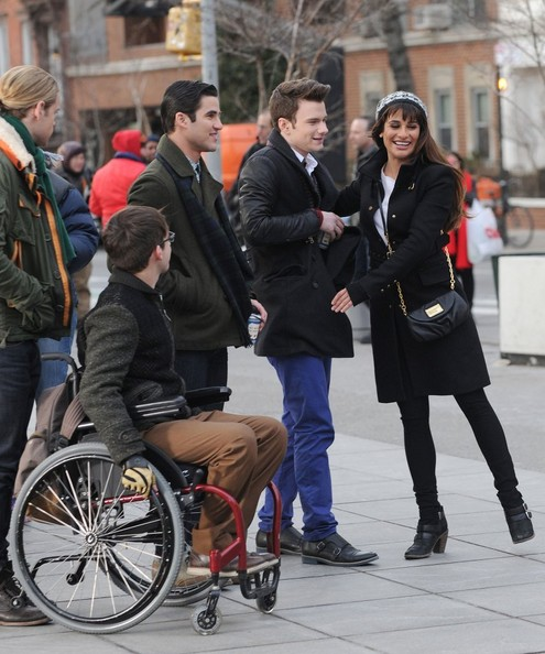 'Glee' Films at Washington Square Park