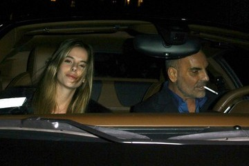 Christian Audigier Celebrities Dine Out At Mr Chow Restaurant