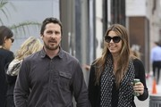 Christian Bale and Sibi Blazic Head Out and About in Beverly Hills
