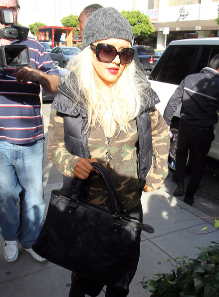 Christina Aguilera Singer Christina Aguilera out for lunch at the Ivy Restaurant in West Hollywood, CA.