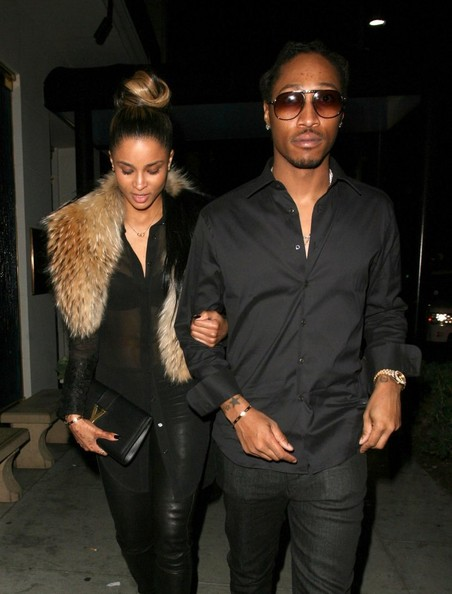 Singer Ciara enjoys a date night with Future (aka Nayvadius Cash) at Mastro's Steakhouse on February 26, 2013 in Beverly Hills, California.