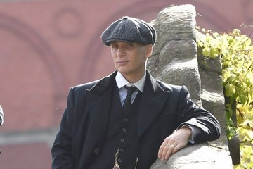Cillian Murphy Celebrities Spotted on the Set of 'Peaky Blinders'