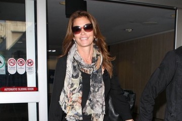 Cindy Crawford Cindy Crawford and Rande Gerber Arrive at LAX