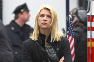Claire Danes Claire Danes Films Scenes for 'Homeland' in Brooklyn