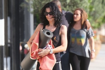 Claudine Farrell Colin Farrell Leaving Yoga With His Sister