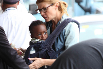 Eyob Britton Connie Britton Arrives at LAX with Son Eyob