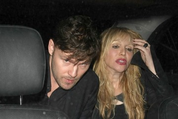 Courtney Love Celebrities Dine Out at Craig's Restaurant