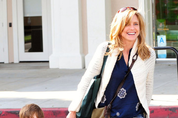 Courtney Thorne-Smith Courtney Thorne Smith And Son Out At Pinkberry In Brentwood