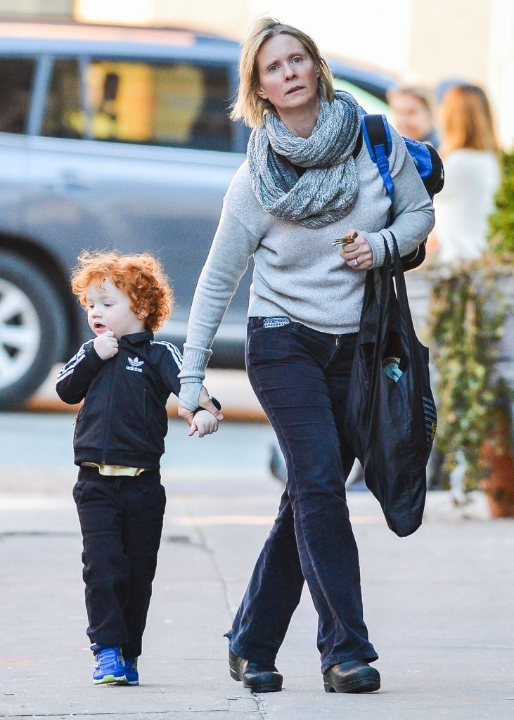 Cynthia Nixon & Son Max Out In New York - Zimbio