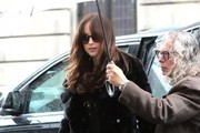 Dakota Johnson Gets Caught in the Rain in NYC