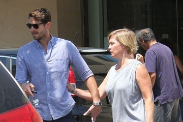 Dave Abrams Jennie Garth and Dave Abrams Go Out Shopping at Macy's