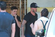 David Beckham and Brooklyn Leave Soul Cycle