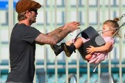 Tuesday: David Beckham and Harper Beckham - The Week In Pictures: September 13, 2013