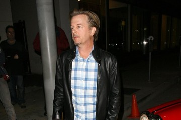 David Spade Celebs Out to Dinner in Hollywood