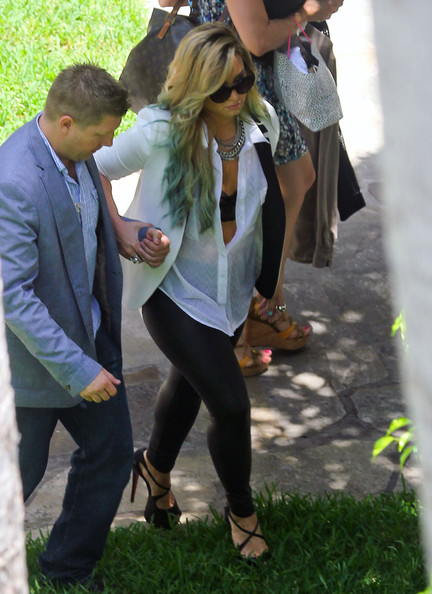 Demi Lovato Singer Demi Lovato heads to the hotel to film the latest X Factor in Miami, Florida on July 27, 2012