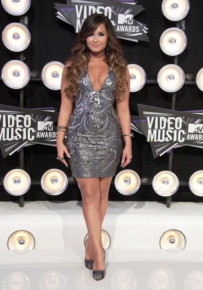 Demi Lovato Celebrities arrive at the 28th Annual MTV Video Music Awards at the Nokia Theatre L.A. Live in Los Angeles.