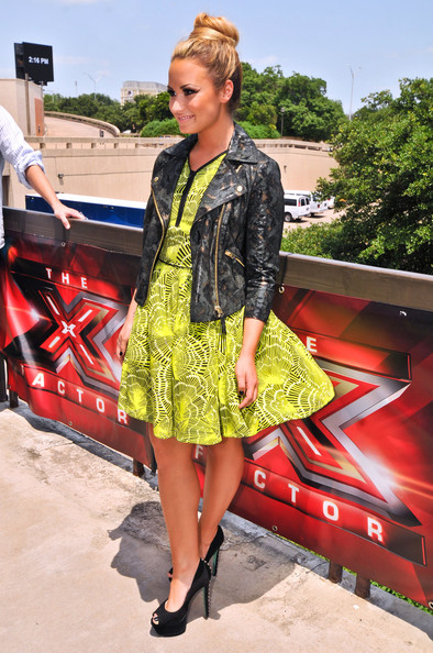 Demi Lovato - 'X-Factor' Judges Arriving For Auditions In Austin