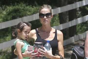 Denise Richards Denise Richards Takes Her Daughters Horseback Riding