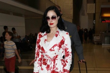 Dita Von Teese Dita Von Teese Departing on a Flight at LAX