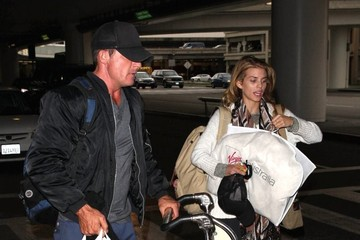 Dominic Purcell AnnaLynne McCord and Her Boyfriend at LAX