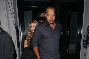 Donald Faison Celebrities Dine Out At Craig's Restaurant