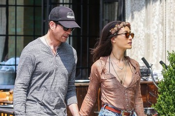 Dylan McDermott Maggie Q and Dylan McDermott Head Out For Breakfast