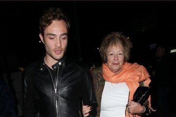 Ed Westwick Ed Westwick Enjoys a Night Out with His Mom