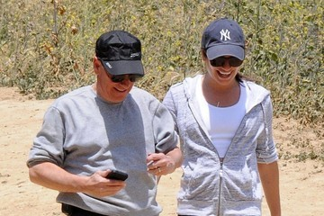 Edith Sarfati Lea Michele Is All Smiles At TreePeople With Her Parents
