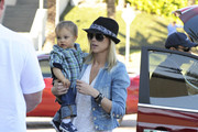Tiger Wood's estranged wife Elin Nordegren goes shopping at Millenia mall in Orlando with her son Charlie.