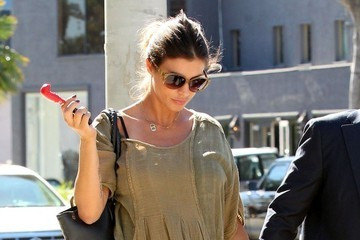 Elisabetta Canalis Pregnant Elisabetta Canalis and Brian Perri Lunch in West Hollywood