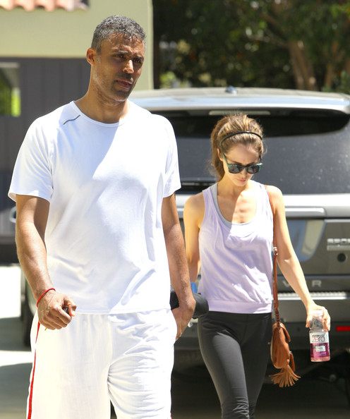 Eliza Dushku - Eliza Dushku & Rick Fox Leaving The Gym