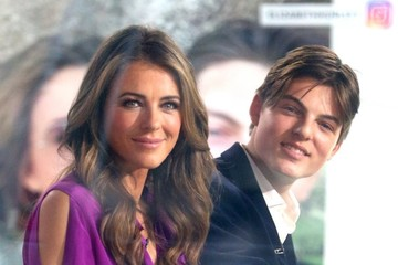 Elizabeth Hurley Damian Hurley Celebrities Appear on 'The Today Show'