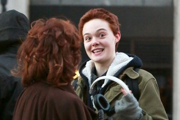 Elle Fanning Scenes from the 'Three Generations' Set