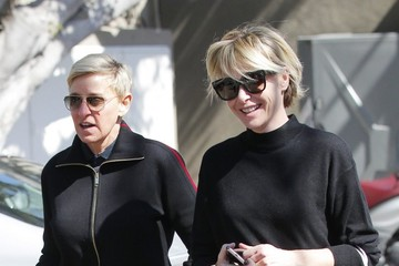 Ellen DeGeneres Ellen DeGeneres & Portia De Rossi Out In West Hollywood