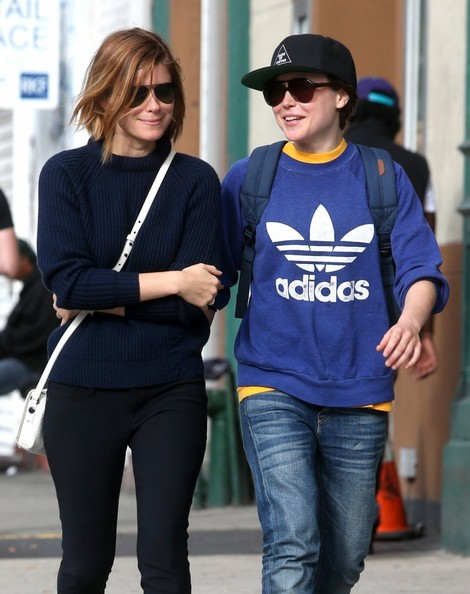 Photo of Kate Mara & her friend tv-personality  Ellen Page - Longtime