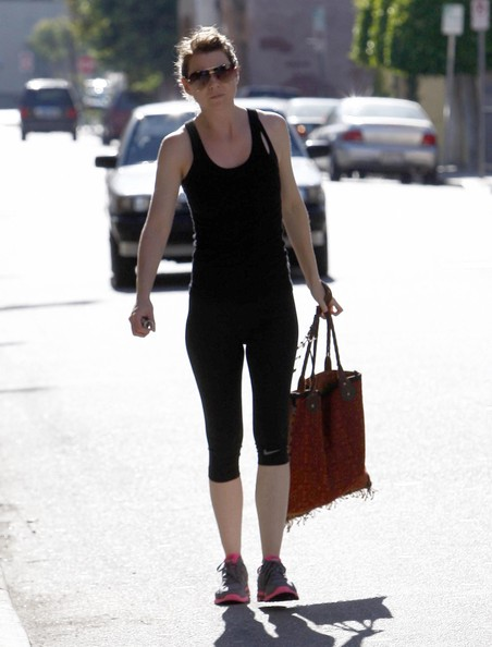 Ellen Pompeo - Ellen Pompeo Leaving A Gym In Studio City