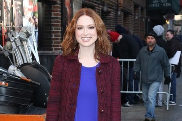 Ellie Kemper  Celebs Stop by the 'Late Show with David Letterman'