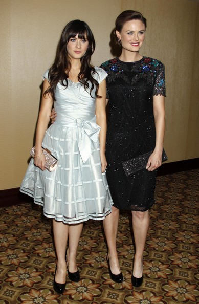 Emily Deschanel and zooey