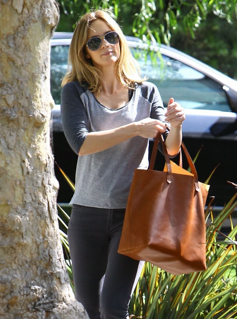Emily Blunt Visits a F...