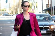 Emmy Rossum Stops By A Doctors Office In Beverly Hills