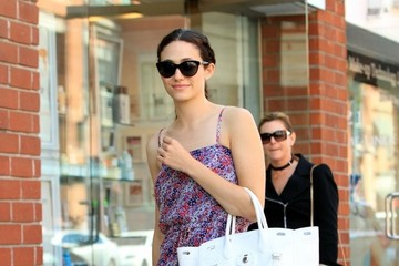 Emmy Rossum Emmy Rossum Stops by a Clinic in Beverly Hills