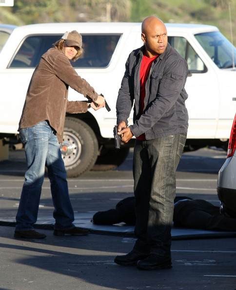Stars On The Set Of 'NCIS: Los Angeles' In Pacific Palisades (Eric