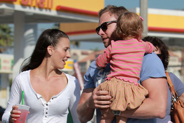 Erin Ludwig Ian Ziering and His Family at the West Hollywood Market