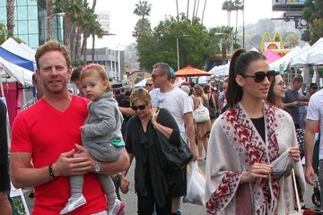 Erin Ludwig Ian Ziering and Family at the Farmer's Market