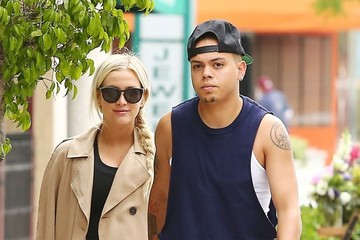 Evan Ross Ashlee Simpson and Evan Ross Hit The Gym
