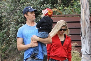 Fergie Fergie and Josh Duhamel Take Axl to the Park